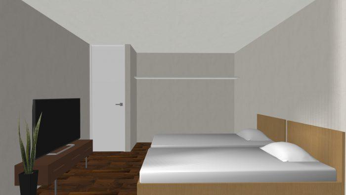 岸邸パース⑪寝室