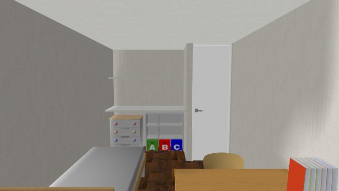岸邸パース⑬子供室2